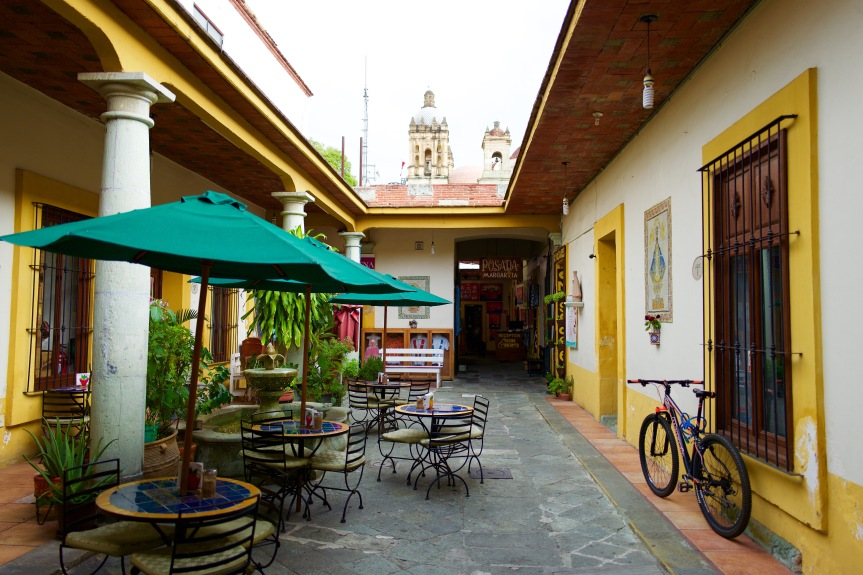 The courtyard of 'mi' Posada Margarita.