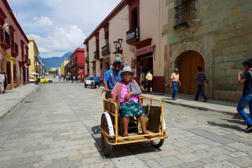 Moving granny...., Mexican style.