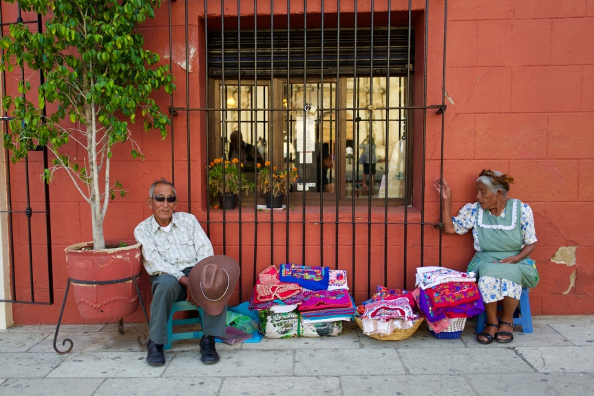 Another lovely old couple surviving in Oaxaca...
