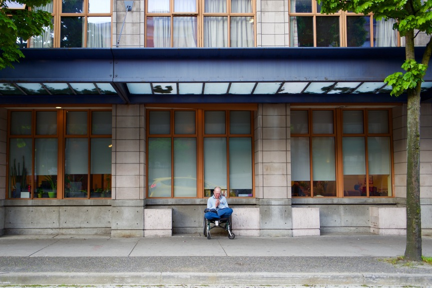 Time to meditate. Old age centre across from my office in Vancouver. bc.