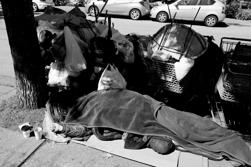 Homeless is rampant these days...